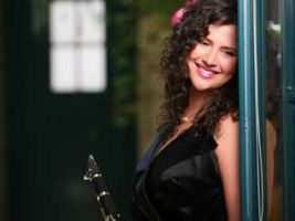 Anat Cohen with clarinet